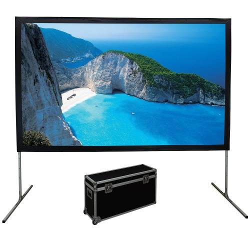 "Elunevison 165"" 16:9 Portable Fast Fold Projection Screen with Front and Rear Material"