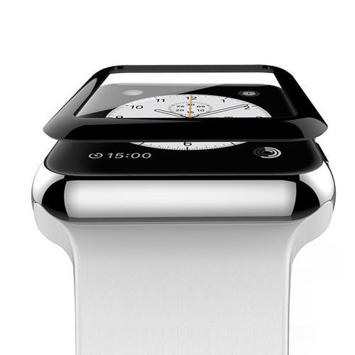 StrapsCo Apple iWatch 42mm 3D surface courbe en verre trempé Protecteur d'écran de garde de film