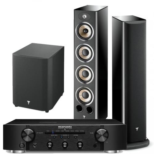 Focal Aria 936 Floorstanding Speakers + Focal SUB300 Subwoofer + Marantz PM6006 Integrated Amplifer