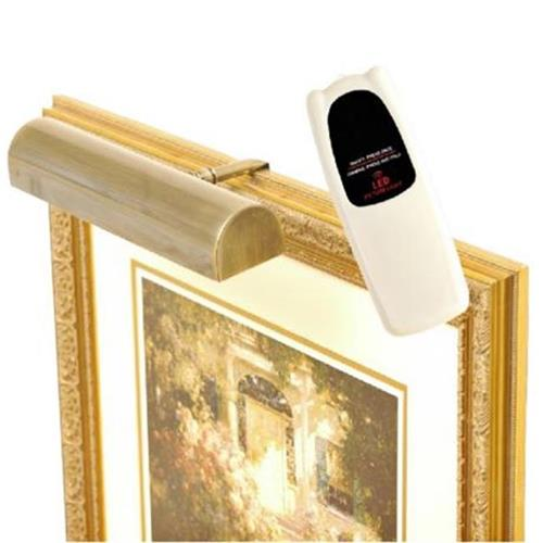Concept Lighting 102L Cordless LED Remote Control Picture Light 11.5 in. Antique Brass