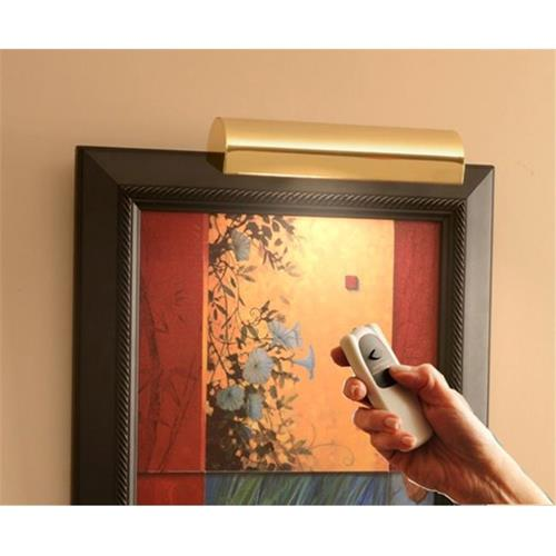 Concept Lighting 201L Slimline Polished Brass 8 In. Cordless LED Remote Control Picture Light