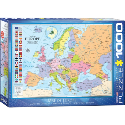 Map Of Canada And Europe.Eurographics 6000 0789 Map Of Europe Puzzle 1000 Pieces Best Buy