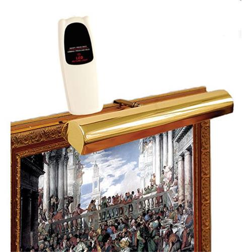 Concept Lighting 101L Cordless LED Remote Control Picture Light 11.5 in. Polished Brass