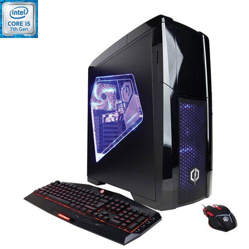 Ordinateur de jeu Xtreme de CyberPowerPC (Core i5 Intel/DD 1 To/SSD 128 Go/RAM 8 Go/GTX 1050 Ti)-Ang