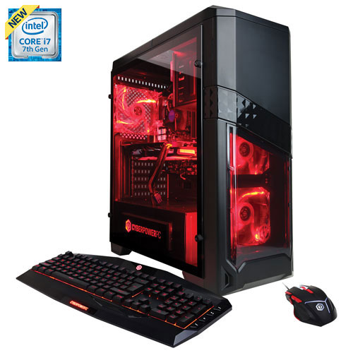 CyberPowerPC Gamer Xtreme PC (Intel Core i7-7700/1TB HDD/8GB RAM/NVIDIA GeForce GTX 1060/Win 10)-Eng