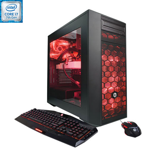 CyberPowerPC GLC4200INC Gaming PC (Intel Core i7-7700K/2TB HDD/128GB SSD/NVIDIA GeForce GTX 1060)-EN