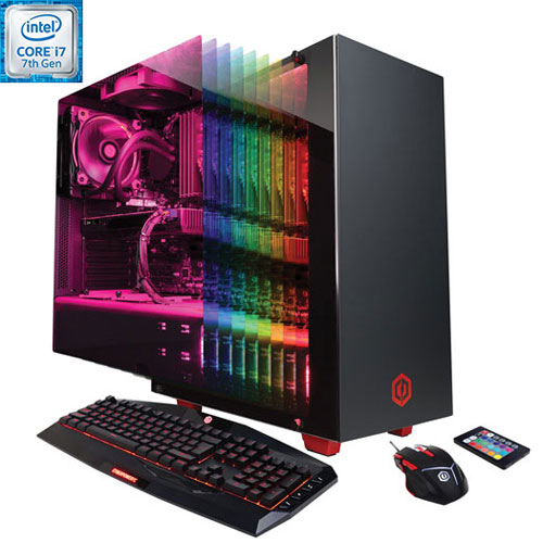 Ordi de jeu SLC8440INC de CyberPowerPC (Core i7-7700K Intel/DD 3 To/GeForce GTX 1070 NVIDIA) - Ang
