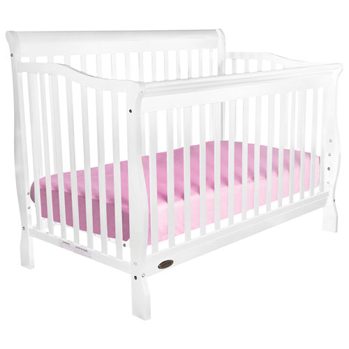 white baby cribs sears crib for sale calgary with attached changing table maria convertible best buy