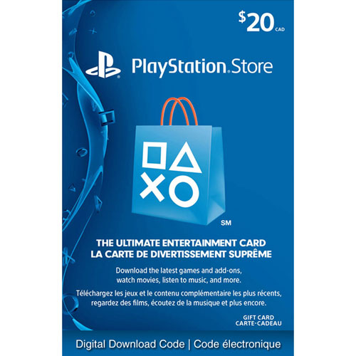 playstation store 20 gift card digital download playstation network cards best buy canada. Black Bedroom Furniture Sets. Home Design Ideas