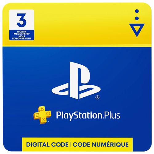 PlayStation Plus 3 Month Membership Digital Download   Online Only  Free Membership Cards Online