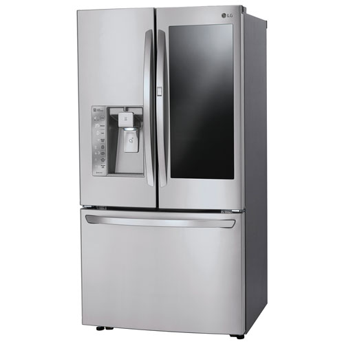 site sd in french door cu p steel stainless ft lg black refrigerator