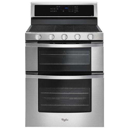 Whirlpool 30 6 Cu Ft True Convection Double Oven Slide In Gas