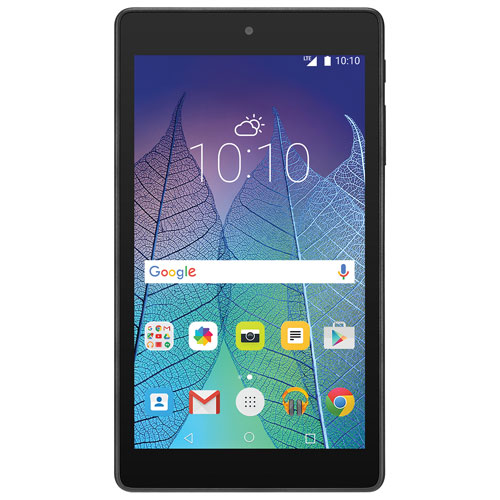 "Rogers/Fido Alcatel Pop 7"" 8GB Android Marshmallow LTE Tablet With Quad Core Processor - Black"