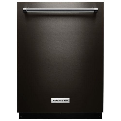 "Kitchenaid Black Steel: KitchenAid 24"" 44dB Dishwasher With Stainless Steel Tub"