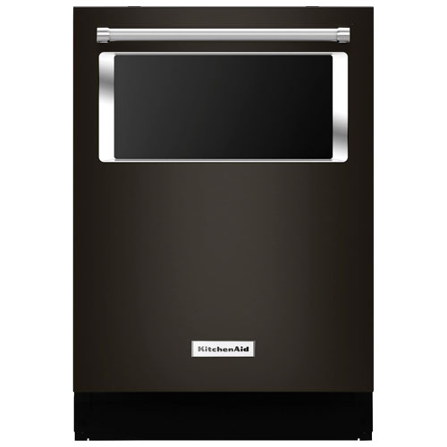 "Kitchenaid Bold Black Stainless: KitchenAid 24"" 44dB Dishwasher With Stainless Steel Tub"