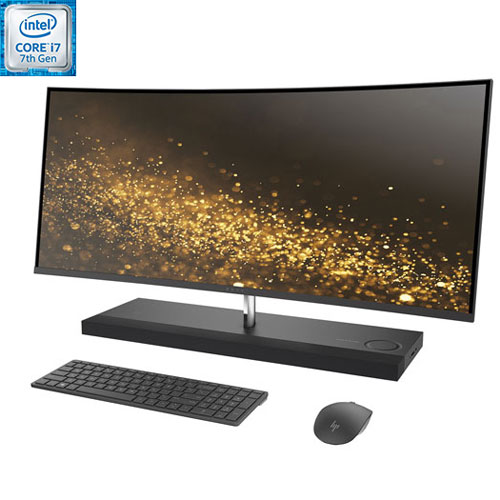 "HP 34"" All-in-One PC -Black (Intel Core i7-7700T/1TB HDD/256GB SSD/16GB RAM/AMD Radeon RX460/Win 10)"