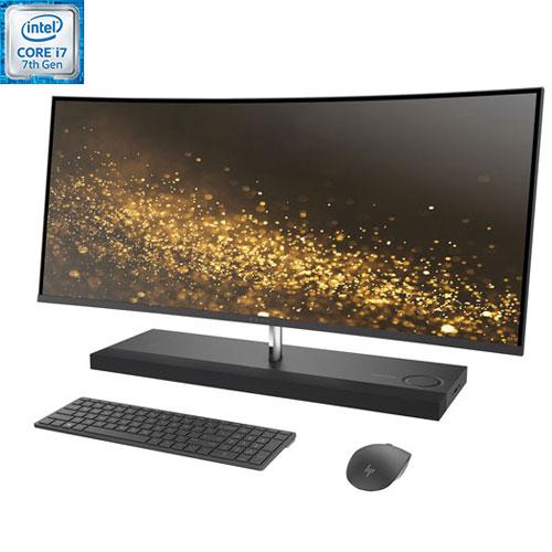 Tout-en-un 34 po HP noir (Core i7-7700T Intel/DD 1 To/SSD 256 Go/RAM 16 Go/Radeon RX460 AMD/Win 10)