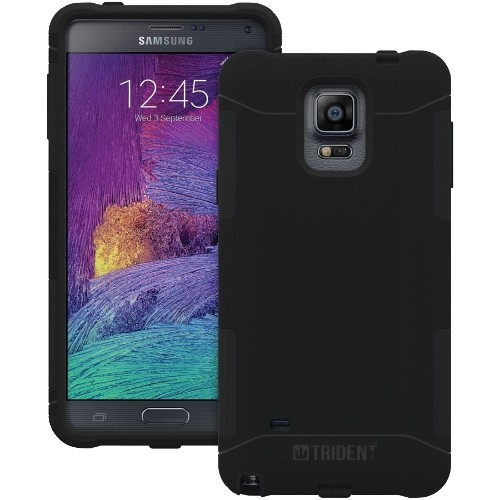 AFCTRIDENT Samsung Galaxy Note 4 Aegis Series Case - Retail Packaging - Black