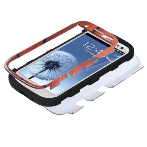 MYBAT SAMSIIIHPCTUFFIM010NP Premium TUFF Case for Samsung Galaxy S3, 1-Pack, Retail Packaging, Basketball/Black