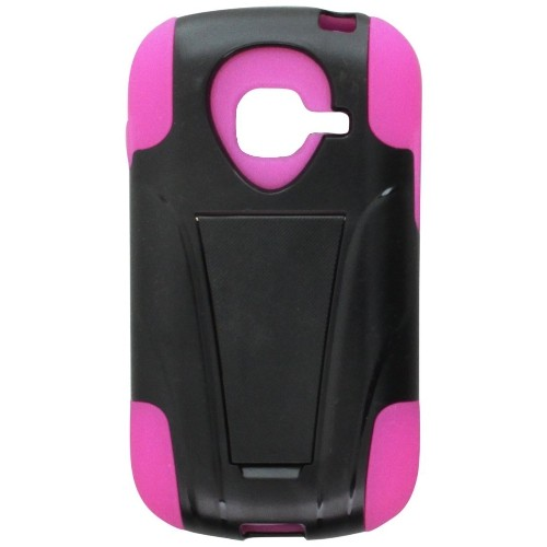 Reiko Silicon Case/Protector Cover for Samsung Galaxy Discover, Non-Retail Packaging, Hot Pink/Black