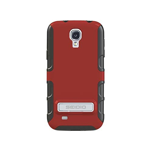 Seidio DILEX Case with Metal Kickstand for Samsung Galaxy S4 1-Pack Retail Packaging, Garnet Red (CSK3SSGS4K-GR)