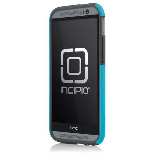 Incipio HT-396-CYN DualPro Case for HTC One (M8)-Carrying-Retail Packaging-Cyan/Gray