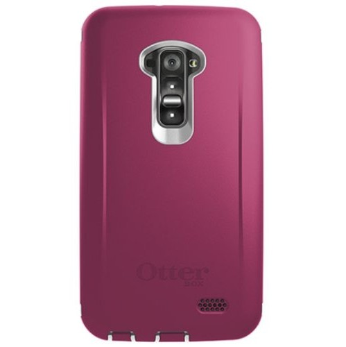 OtterBox Defender Case for LG G Flex - Retail Packaging - Papaya (White/Peony Pink) (Discontinued by Manufacturer) (not for FL