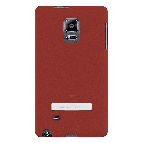 Seidio Surface Case with Metal Kickstand for Samsung Galaxy Note Edge, Retail Packaging, Garnet Red