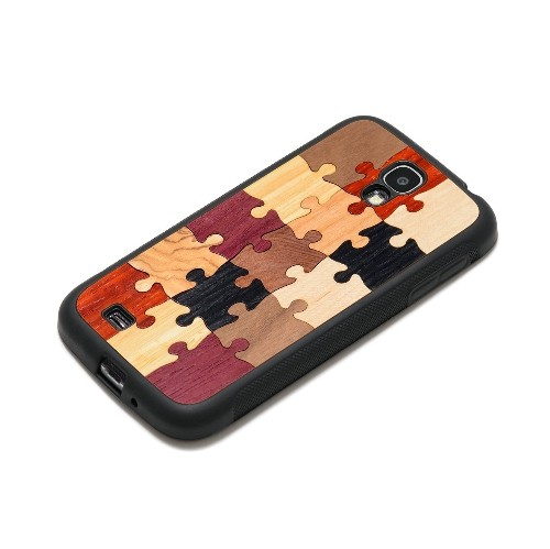 CARVED Matte Black Wood Case for Galaxy S4 - Random Puzzle (S4-BC1-P-SOLID)