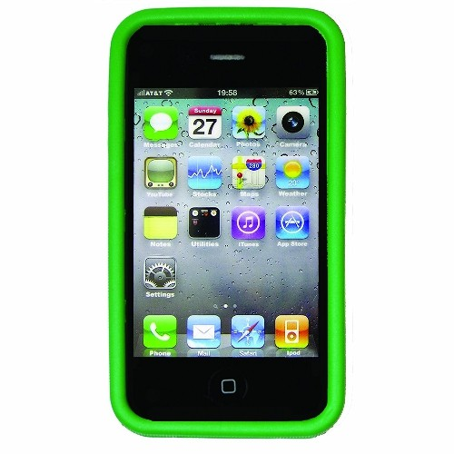 Nite Ize BIO-IP4-28 Bio Case for iPhone 4/4S, 1-Pack, Retail Packaging, Green