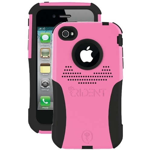Trident Case Aegis Case for Apple iPhone 4, AT and T and Verizon, 1-Pack, Retail Packaging, Pink