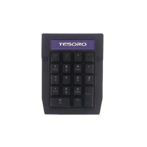 Tesoro TS-G2N-P (BL) Tizona Numpad Blue Mechanical Switch Tenkey Tournament Gaming Numeric Mechanical Keypad