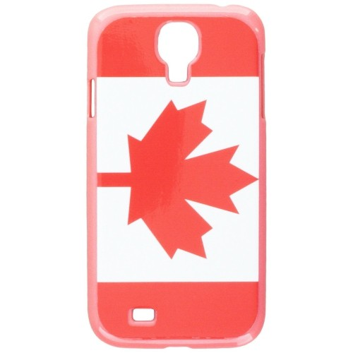 Graphics and More Canada Flag Snap-On Hard Protective Case for Samsung Galaxy S4 - Non-Retail Packaging - Pink