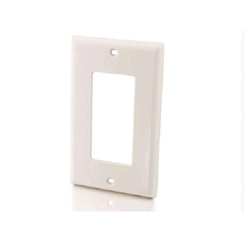Decorative Single Gang Wall Plate - White