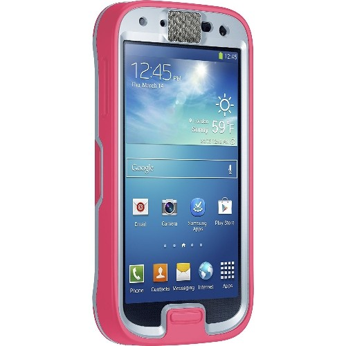 OtterBox Preserver Series Waterproof Case for Samsung GALAXY S4 - Retail Packaging - Primrose (Blaze Pink/Powder Gray)