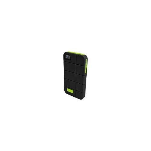 iFrogz Cocoon Case for Apple iPhone 4/4S 1-Pack Retail Packaging, Black/Lime (IP4CCN-BLK-GRN)