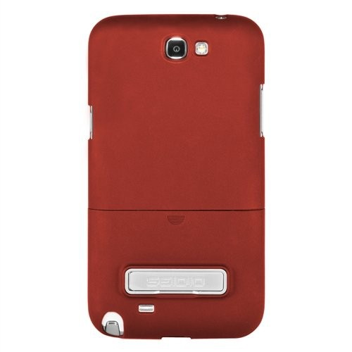 Seidio CSR3SSGT2K-GR SURFACE Case with Metal Kickstand for Use with Samsung Galaxy Note 2 1-Pack- Garnet Red