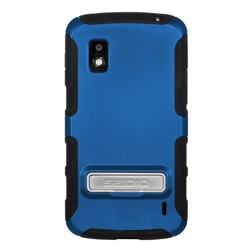 Seidio CSK3LGN4K-RB DILEX Case with Metal Kickstand for LG Nexus 4, 1 Pack, Retail Packaging, Royal Blue