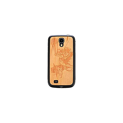 CARVED Matte Black Natural Bamboo Case for Galaxy S4 - Wild West (S4-BC1A-E-WWST)
