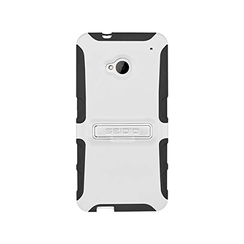 Seidio CSK3HTM7K-GL DILEX with Metal Kickstand Case for Use with HTC One, Retail-Packaging, Glossed White