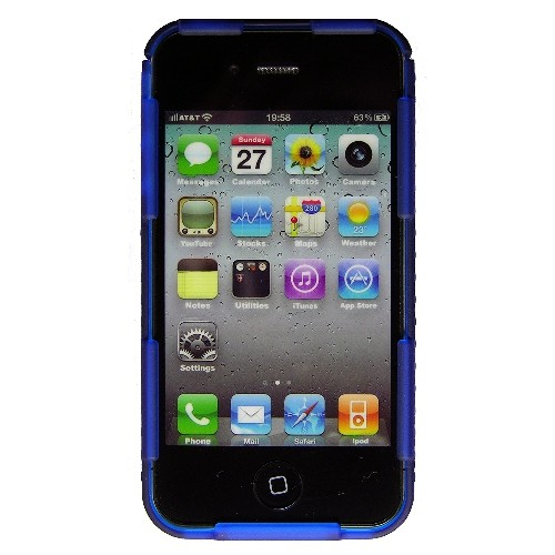 Nite Ize CNT-IP4-03TC Connect Case for iPhone 4/4S, 1-Pack, Retail Packaging, Blue Translucent