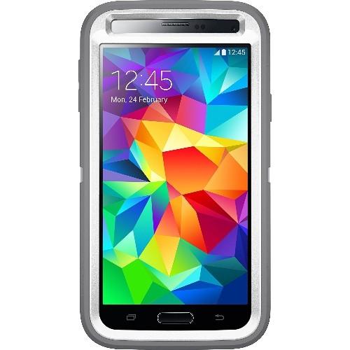 Otterbox Defender Series Samsung Galaxy S5 Case, Retail Packaging, White/Gunmetal Grey