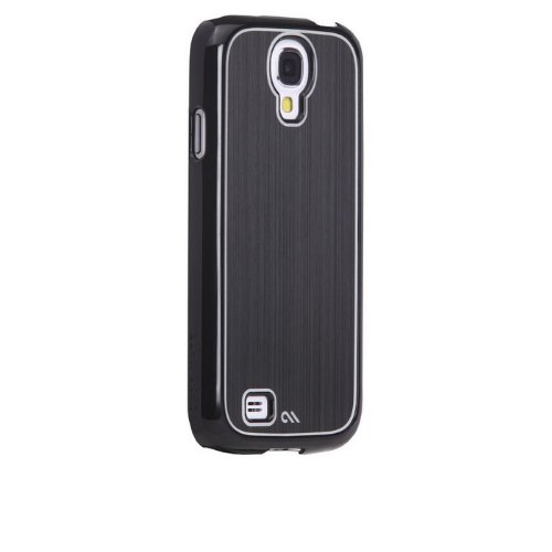 Case-Mate Galaxy S4 Olo Faux Brushed Aluminum Case, Black (OLO026844)