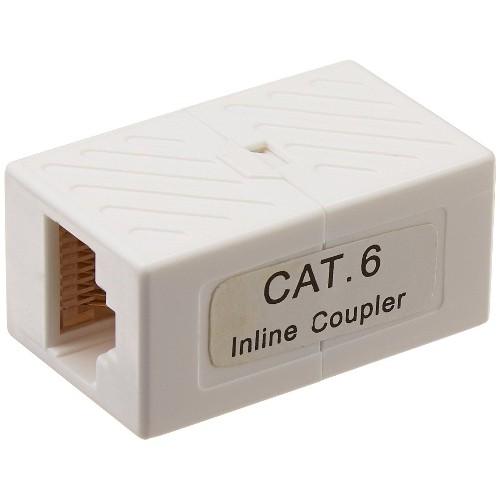 Monoprice Cat6 Inline Coupler, White (107286)