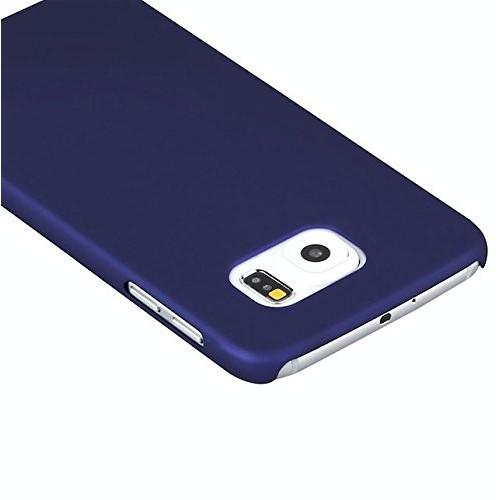 Galaxy S7 Edge Case, Arpiel [Perfect-Fit] Ultra Slim Rubberized Matte Hard Plastic Case (Blue)
