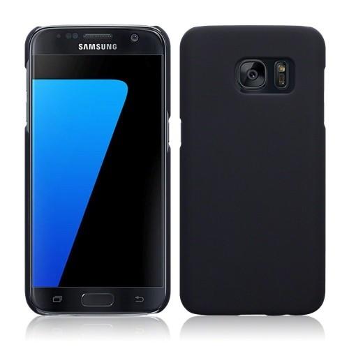 Galaxy S7 Edge Case, Arpiel [Perfect-Fit] Ultra Slim Rubberized Matte Hard Plastic Case (Black)