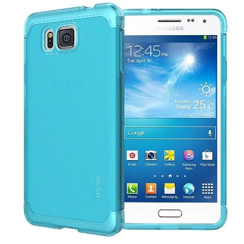 TUDIA Ultra Slim LITE TPU Bumper Protective Case for Samsung Galaxy Alpha (2014) (Teal)