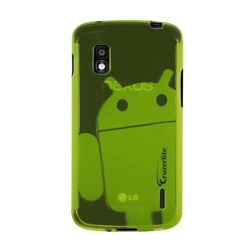 Nexus 4 Case, Cruzerlite Androidified A2 TPU Case Compatible for Nexus 4 - Green