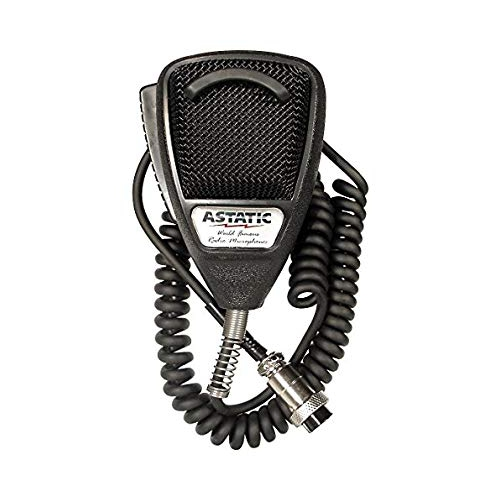 Astatic 302-636LB1 Black Noise Cancelling 4 Pin CB Microphone (Bulk)