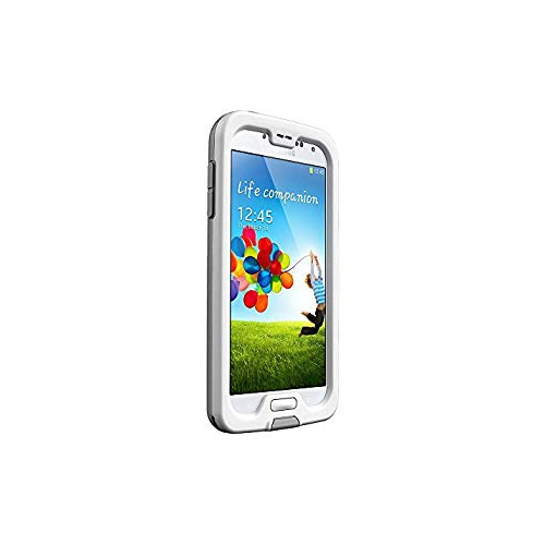 Lifeproof Fre Case for Samsung Galaxy S4-Retail Packaging, White/Gray/Clear